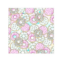 Donuts Pattern Small Satin Scarf (square) by ValentinaDesign