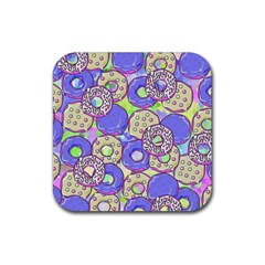 Donuts Pattern Rubber Coaster (square)