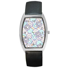 Donuts Pattern Barrel Style Metal Watch by ValentinaDesign