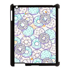 Donuts Pattern Apple Ipad 3/4 Case (black) by ValentinaDesign