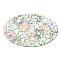 Donuts Pattern Oval Magnet