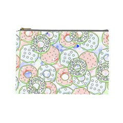 Donuts Pattern Cosmetic Bag (large)  by ValentinaDesign