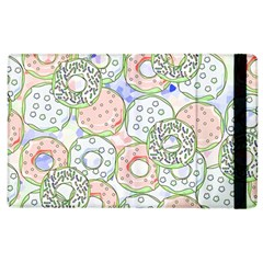 Donuts Pattern Apple Ipad 2 Flip Case by ValentinaDesign