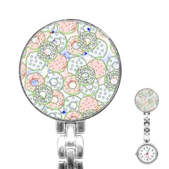 Donuts Pattern Stainless Steel Nurses Watch by ValentinaDesign