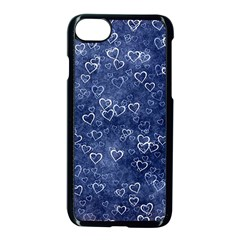 Heart Pattern Apple Iphone 7 Seamless Case (black) by ValentinaDesign