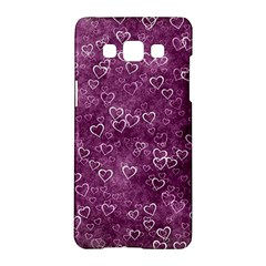 Heart Pattern Samsung Galaxy A5 Hardshell Case  by ValentinaDesign