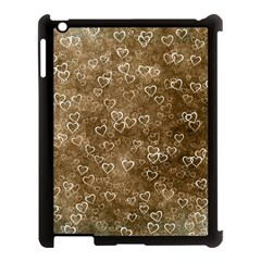 Heart Pattern Apple Ipad 3/4 Case (black) by ValentinaDesign