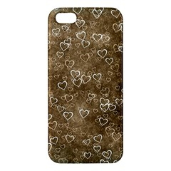 Heart Pattern Apple Iphone 5 Premium Hardshell Case by ValentinaDesign