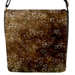 Heart Pattern Flap Messenger Bag (s) by ValentinaDesign