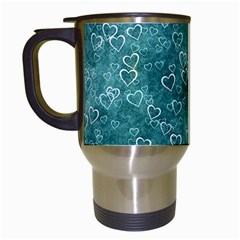 Heart Pattern Travel Mugs (white) by ValentinaDesign