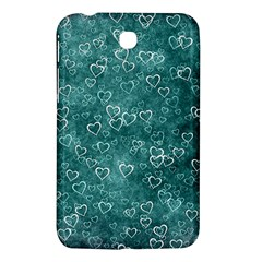 Heart Pattern Samsung Galaxy Tab 3 (7 ) P3200 Hardshell Case  by ValentinaDesign