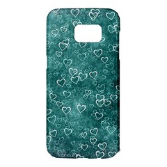 Heart Pattern Samsung Galaxy S7 Edge Hardshell Case by ValentinaDesign