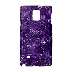 Heart Pattern Samsung Galaxy Note 4 Hardshell Case by ValentinaDesign