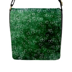 Heart Pattern Flap Messenger Bag (l)  by ValentinaDesign
