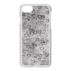Heart Pattern Apple Iphone 7 Seamless Case (white) by ValentinaDesign