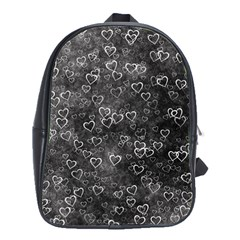 Heart Pattern School Bag (large) by ValentinaDesign