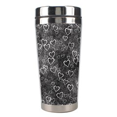 Heart Pattern Stainless Steel Travel Tumblers by ValentinaDesign