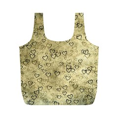 Heart Pattern Full Print Recycle Bags (m)  by ValentinaDesign