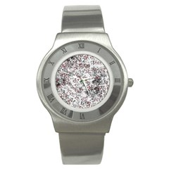 Heart Pattern Stainless Steel Watch by ValentinaDesign