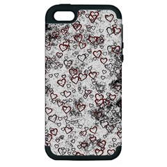 Heart Pattern Apple Iphone 5 Hardshell Case (pc+silicone) by ValentinaDesign