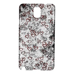 Heart Pattern Samsung Galaxy Note 3 N9005 Hardshell Case by ValentinaDesign