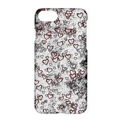 Heart Pattern Apple Iphone 7 Hardshell Case by ValentinaDesign