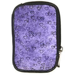 Heart Pattern Compact Camera Cases by ValentinaDesign