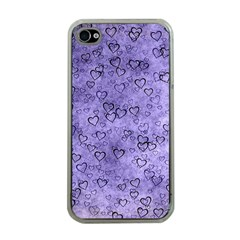 Heart Pattern Apple Iphone 4 Case (clear) by ValentinaDesign