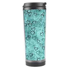 Heart Pattern Travel Tumbler by ValentinaDesign