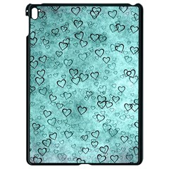 Heart Pattern Apple Ipad Pro 9 7   Black Seamless Case by ValentinaDesign