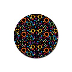70s Pattern Rubber Coaster (round)