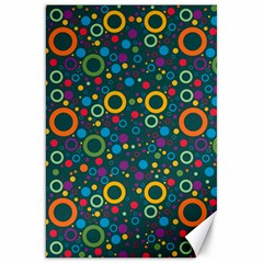 70s Pattern Canvas 20  X 30   by ValentinaDesign