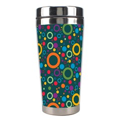 70s Pattern Stainless Steel Travel Tumblers by ValentinaDesign