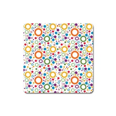 70s Pattern Square Magnet by ValentinaDesign