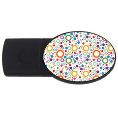 70s Pattern Usb Flash Drive Oval (2 Gb) by ValentinaDesign