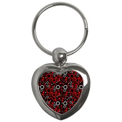 70s Pattern Key Chains (heart)  by ValentinaDesign