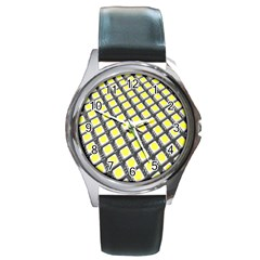 Wafer Size Figure Round Metal Watch by Mariart