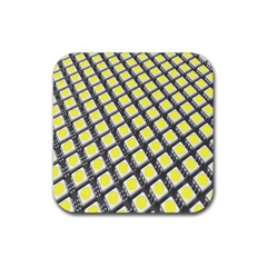 Wafer Size Figure Rubber Coaster (square)  by Mariart