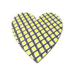 Wafer Size Figure Heart Magnet by Mariart