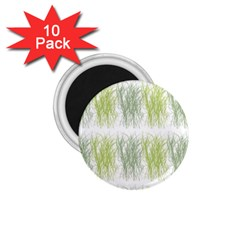 Weeds Grass Green Yellow Leaf 1 75  Magnets (10 Pack)  by Mariart