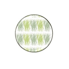 Weeds Grass Green Yellow Leaf Hat Clip Ball Marker (10 Pack)