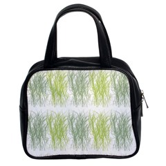 Weeds Grass Green Yellow Leaf Classic Handbags (2 Sides) by Mariart