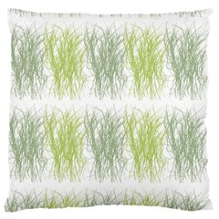 Weeds Grass Green Yellow Leaf Large Cushion Case (two Sides) by Mariart