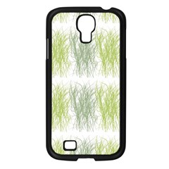 Weeds Grass Green Yellow Leaf Samsung Galaxy S4 I9500/ I9505 Case (black) by Mariart