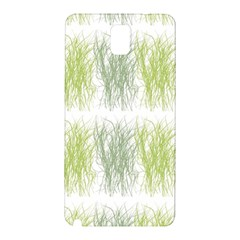 Weeds Grass Green Yellow Leaf Samsung Galaxy Note 3 N9005 Hardshell Back Case by Mariart