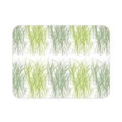 Weeds Grass Green Yellow Leaf Double Sided Flano Blanket (mini)  by Mariart