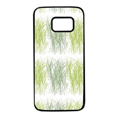 Weeds Grass Green Yellow Leaf Samsung Galaxy S7 Black Seamless Case by Mariart