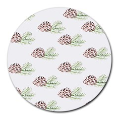 Pinecone Pattern Round Mousepads by Mariart