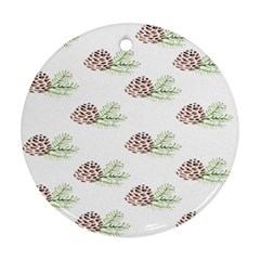 Pinecone Pattern Ornament (round)
