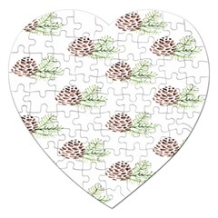 Pinecone Pattern Jigsaw Puzzle (heart)